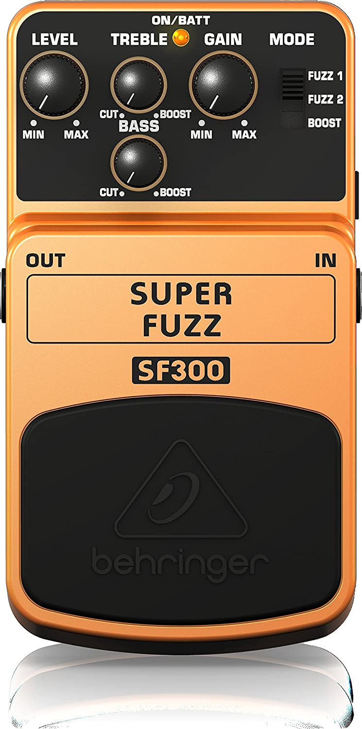 Behringer Super Fuzz SF300 3-Mode Fuzz Distortion Instrument Effects Pedal