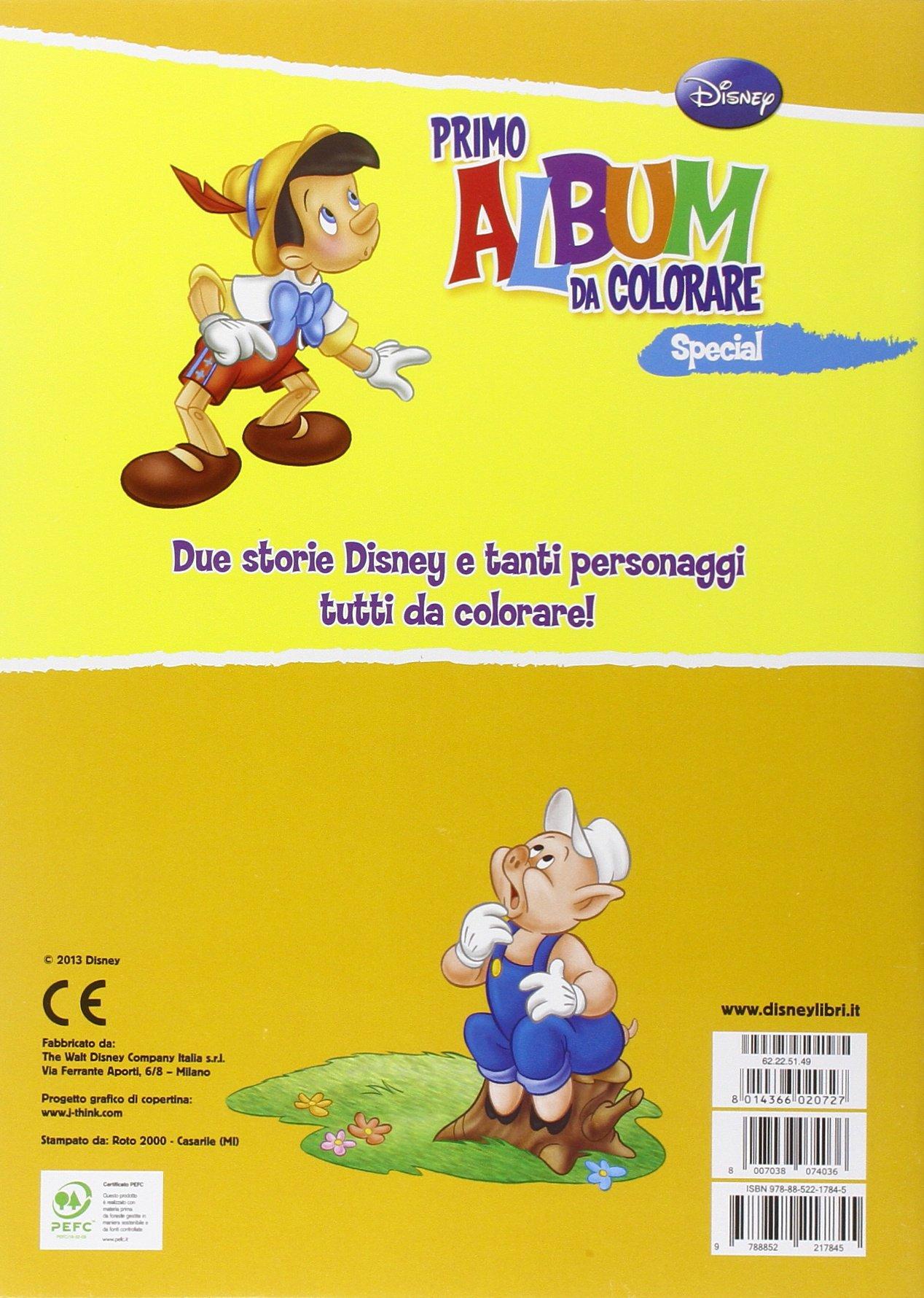 Amazon It Primo Album Da Colorare Special Pinocchio E I Tre