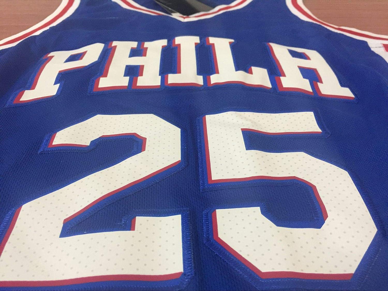 sin mangas malla transpirable Simmons 25 # Sixers Camiseta de baloncesto para hombre edici/ón de fans de verano estilo retro S-XXL