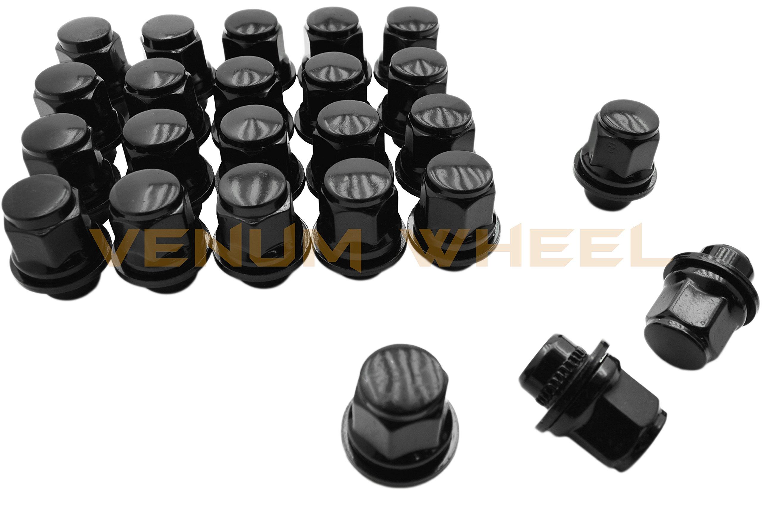 24 Pc Black Toyota Tacoma Tundra Fj Cruiser Oem Mag Seat Lug Nuts 12x1.5 1.45'' Tall 6 Lug by Venum wheel accessories (Image #4)