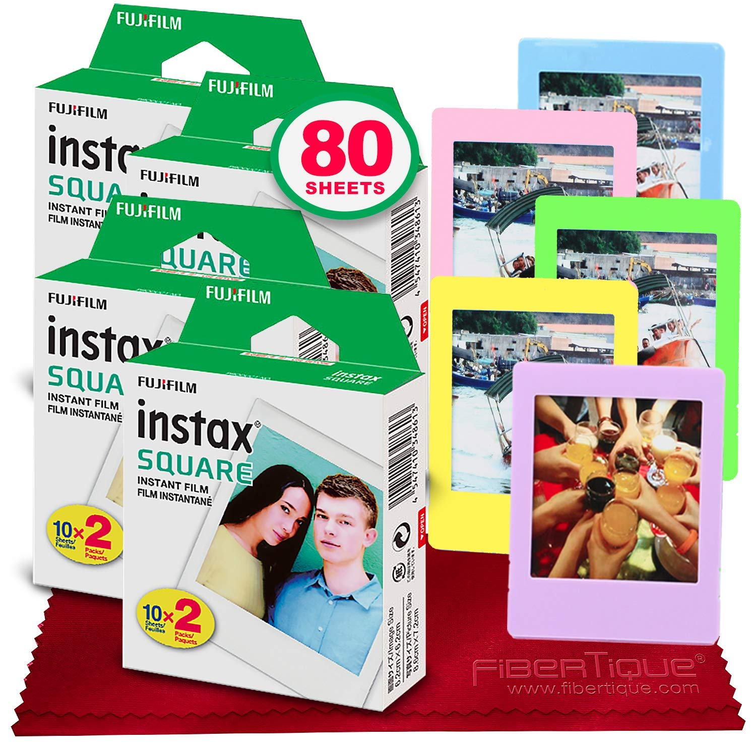 FUJIFILM instax SQUARE Instant Film (80 hojas) For SQ6,...