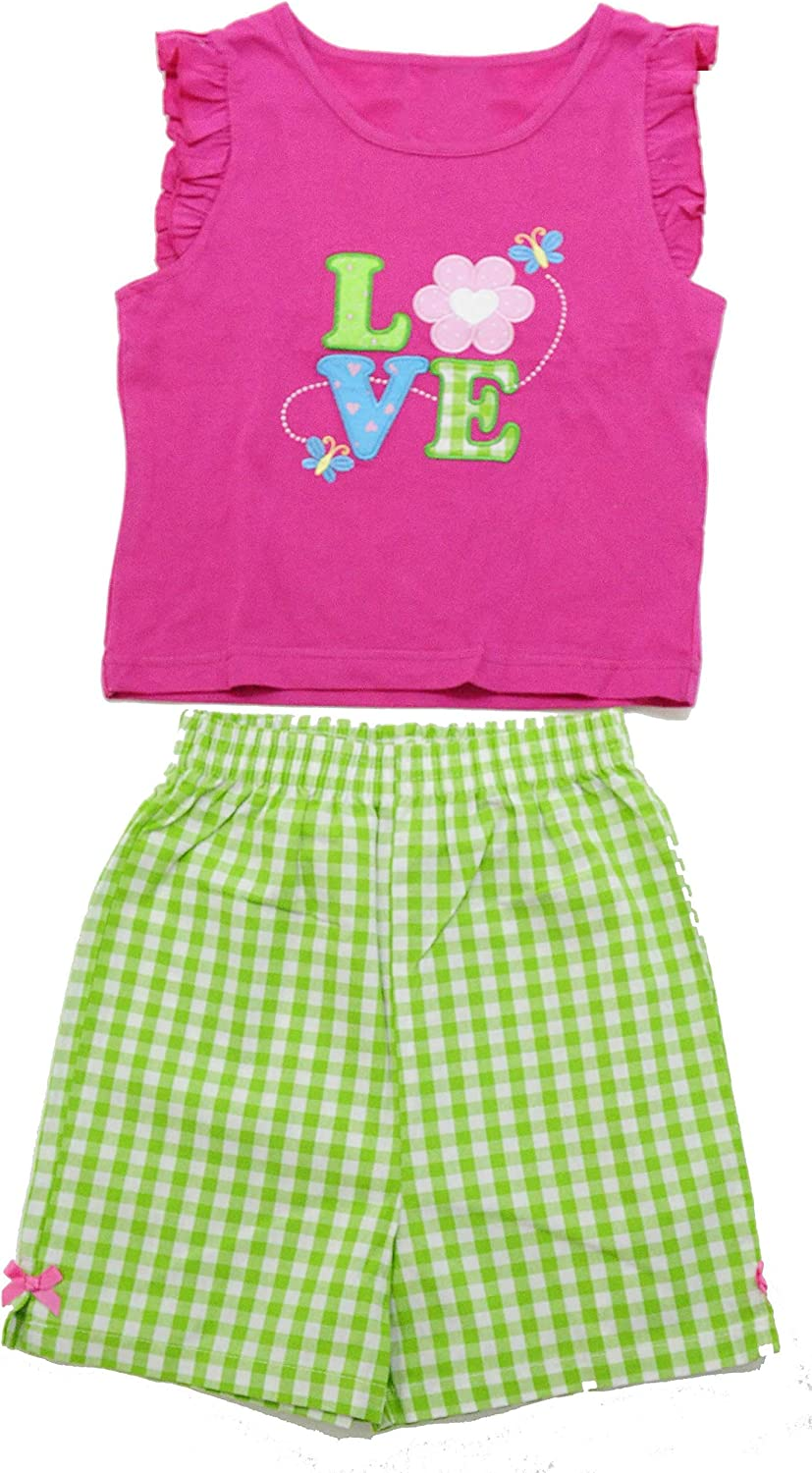 Just Love 2 Piece Summer Short Sets for Girls with Applique