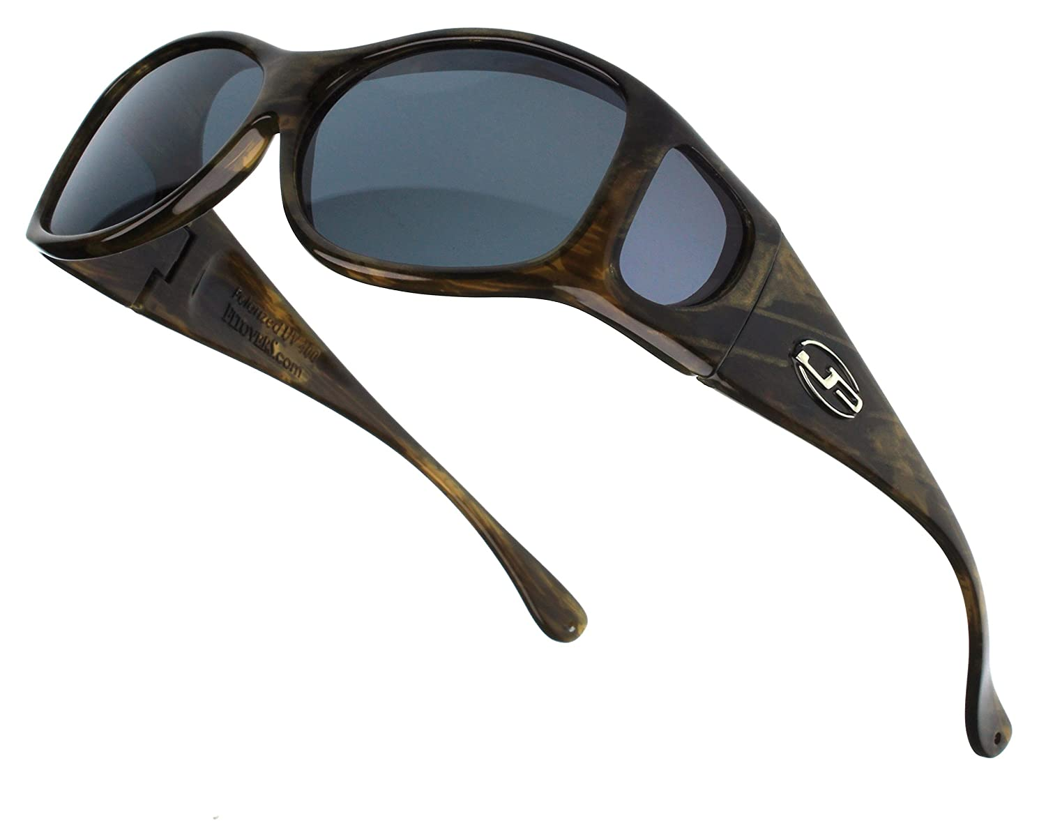 a8bcfd415df7 Amazon.com  Jonathan Paul Fitovers XS Glides Brushed Horn Polarized Gray  Sunglasses  Clothing