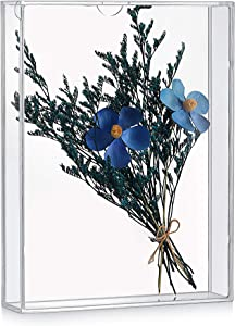 """MarccTipton 8x10 Shadow Box Frame, Acrylic Photo Picture Frame, DIY Tabletop Display Case, All Clear Memory Box for Dried Flowers/Kids Room/Birthday/Wedding/Party/Shop Decor (1.5"""" Interior Depth)"""