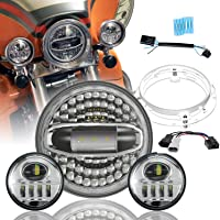 "Harley Headlight 7""+4-1/2"" Brighter S002R"