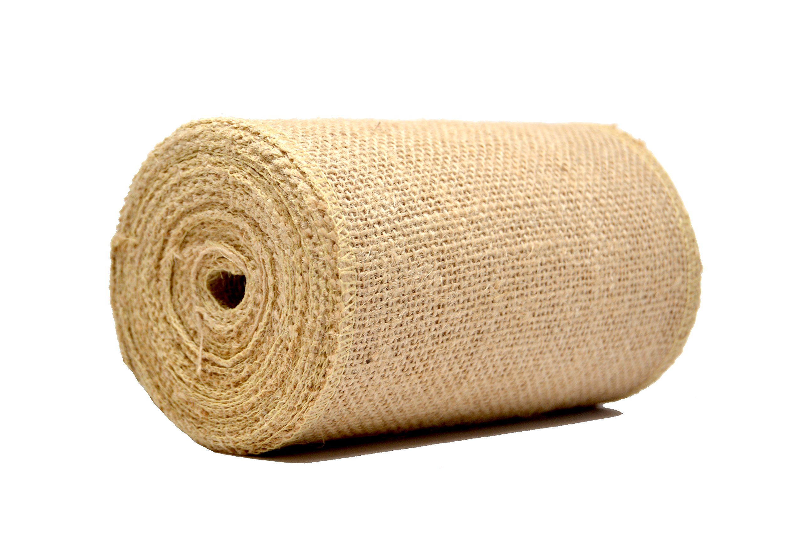 Amazon Firefly Craft Burlap NO FRAY Ribbon Fabric 6 Inches by