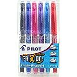 Pilot Frixion - Bolígrafos roller de tinta borrable (6 unidades), varios colores
