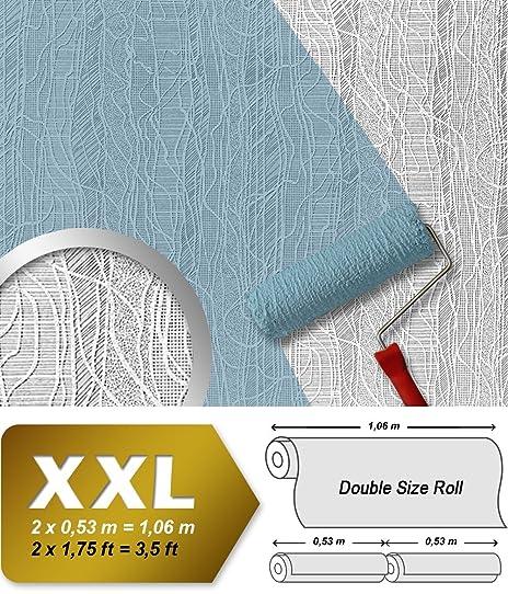 Papier Peint Intissé Edem 341-60 Blanc À Peindre Texturé