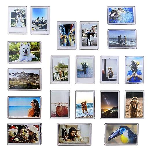 Paquete de 20 Mini Imanes Marco de Fotos | Imanes de Nevera Foto ...
