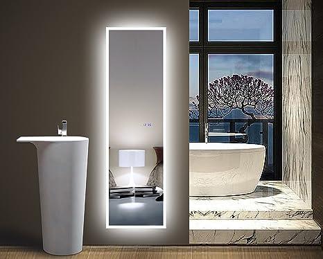Amazoncom Glasstek Inc Led Standing Floor Mirror 17 34 X 63