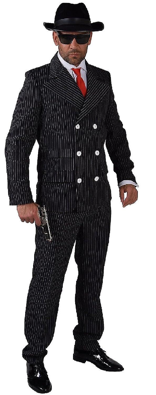 M204203-2 schwarz Herren Gangster-Mafia-Ganoven Kostüm