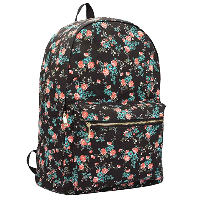 4a1c1977c4ab Canvas Backpack Rucksack - Girls Ladies Womens Casual Daypack Bags - 15  COLOURS - 20 Litre Medium School Hand Luggage Size Backpacks - Classic  Settlement ...