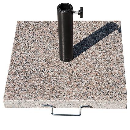 Sundale Outdoor Universal Square Grey Granite Patio Umbrella Base Heavy  Duty Umbrella Stand, 55 Pounds
