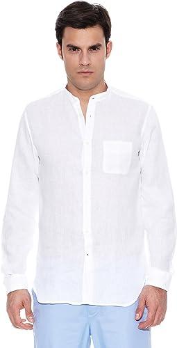 Pedro del Hierro Camisa Non Iron Sport Lino Mao Blanco L: Amazon.es: Ropa y accesorios