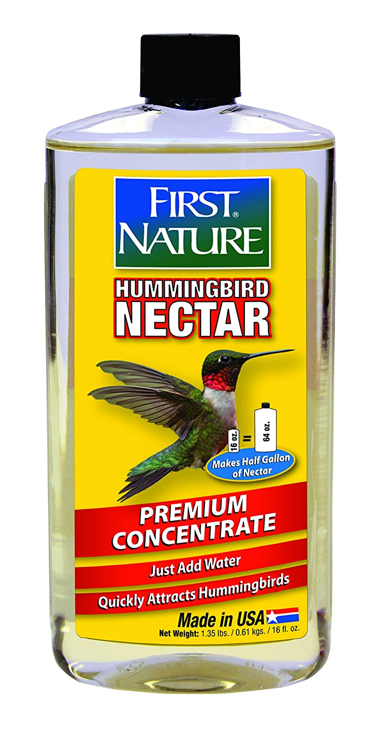 First Nature 3052 Clear Hummingbird Nectar, 16-ounce Concentrate 993052-306