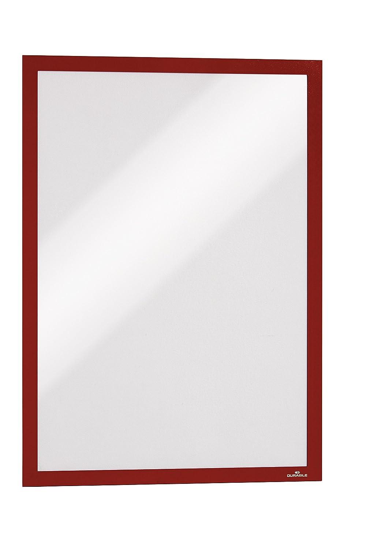 Durable 488309 Info-Rahmen Duraframe (A3, selbstklebend mit Magnetverschluss) 6 Stück orange