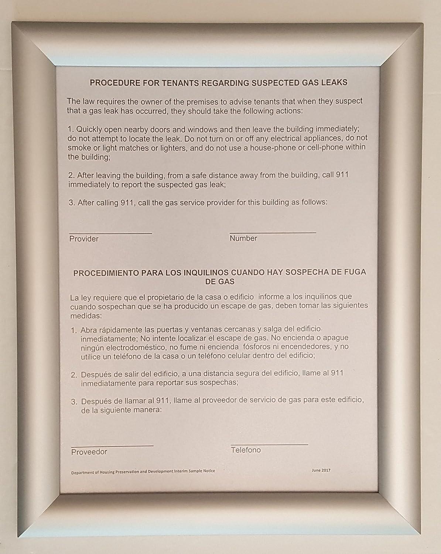 HPD Gas Leak Sign (Frame 8-1/2