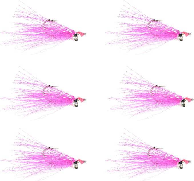 4 V Fly Size 2 Flats Magic Pink ULTRA Living Shrimp Bonefish Saltwater Flies