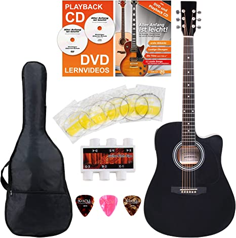Classic Cantabile guitarra acústica con pastila set principiantes ...