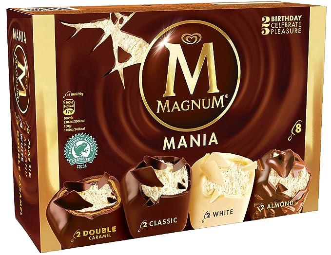 Magnum Mania Helado - Paquete de 8 x 110 ml - Total: 880 ml