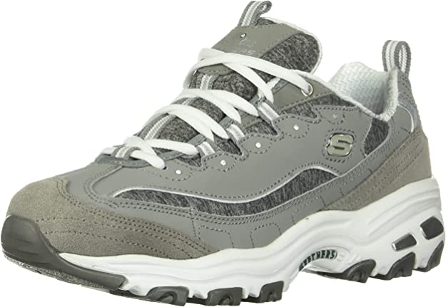 1. Skechers Women's D'Lites Memory Foam Lace-up Sneaker