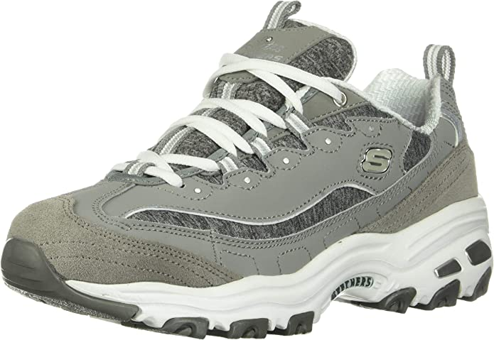 Skechers D'Lites Biggest Fan Sneakers Damen Grau
