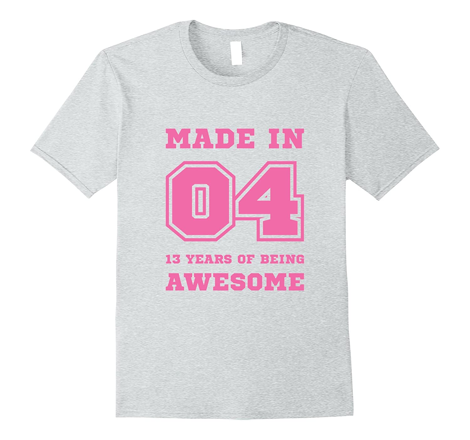 13th Birthday Shirt for Girls College Style Made in 2004-TH
