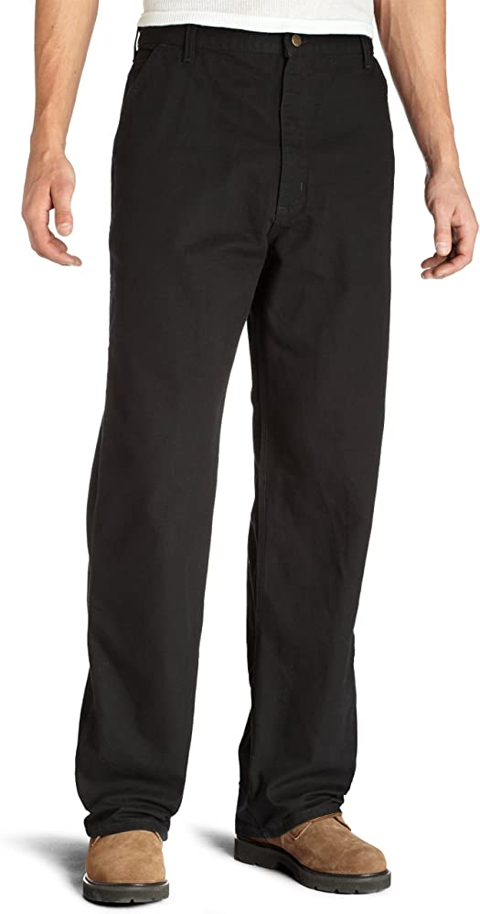 f2e25c4306 Amazon.com: Carhartt Men's Washed Duck Work Dungaree Pant, Black ...