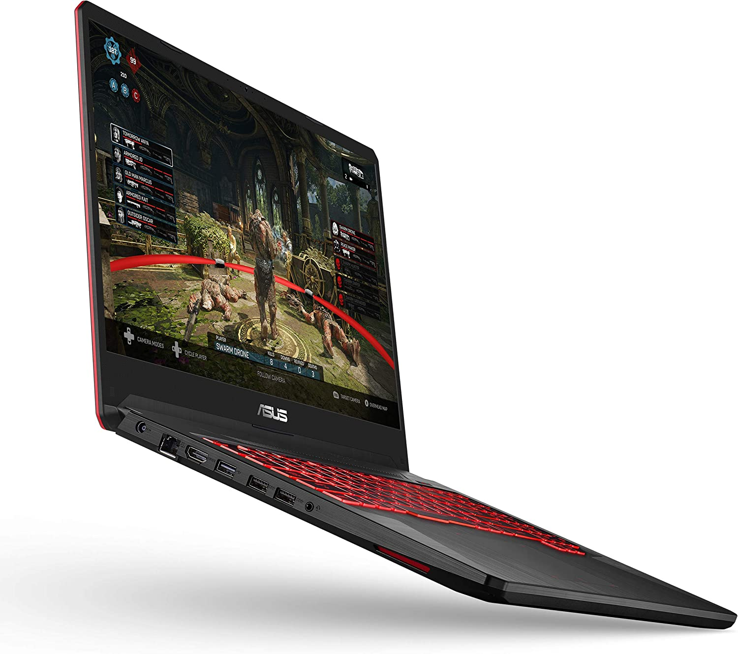 "ASUS TUF Gaming Laptop, 17.3"" Full HD IPS Type, AMD Ryzen 5 3550H CPU, AMD Radeon RX560X, 8GB DDR4, 512GB PCIe SSD, Gigabit Wi-Fi 5, Windows 10 Home - FX705DY-EH53"