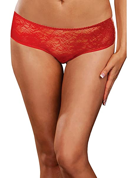 ede7e4d026b3 Image Unavailable. Image not available for. Color: Plus Size Ruffle Bottom  Open Crotch Boyshort Panty