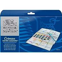 Winsor & Newton Cotman Water Color Pocket Plus Set of 24 Half Pans