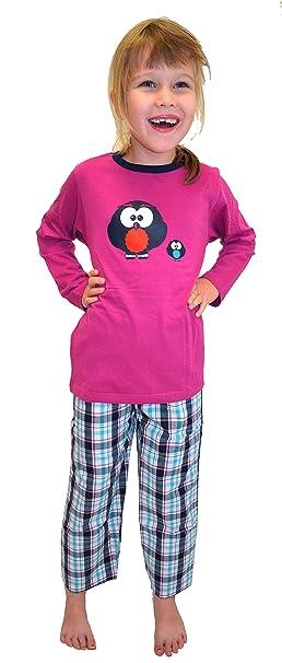 Warmer Kinder-Schlafanzug für Mädchen oder Jungs Grössen 104 bis 164, Verschiedene Modelle, Langer Arm und langes Bein, 100%