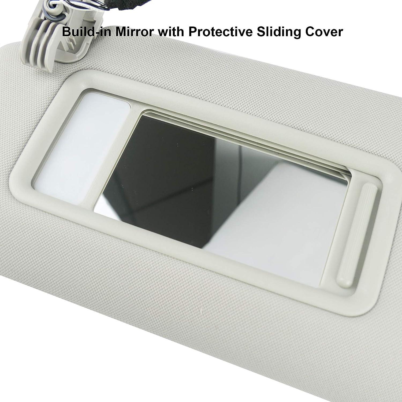 Car Sun Visor Driver with Built-in Makeup Mirror Light TDY1-69-320 Sun Visor for Mazda CX-9 2010-2015