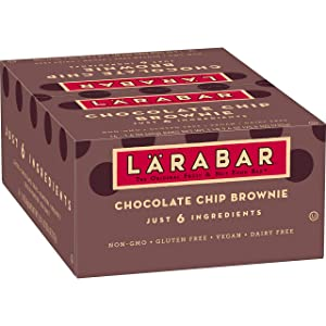 Larabar Fruit and Nut Bar, Chocolate Chip Brownie, 16 ct