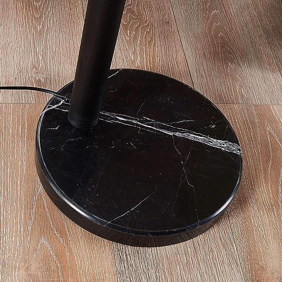 l/ámpara de pie para Sal/ón /& Comedor l/ámpara de arco en Negro hecho de Metal e.o 5 llamas, E27, A++ de LAMPENWELT L/ámpara de pie Lira Moderno