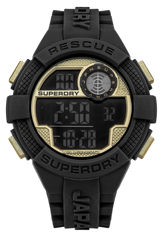 Superdry Reloj Hombre de Digital con Correa en Silicona SYG193BG