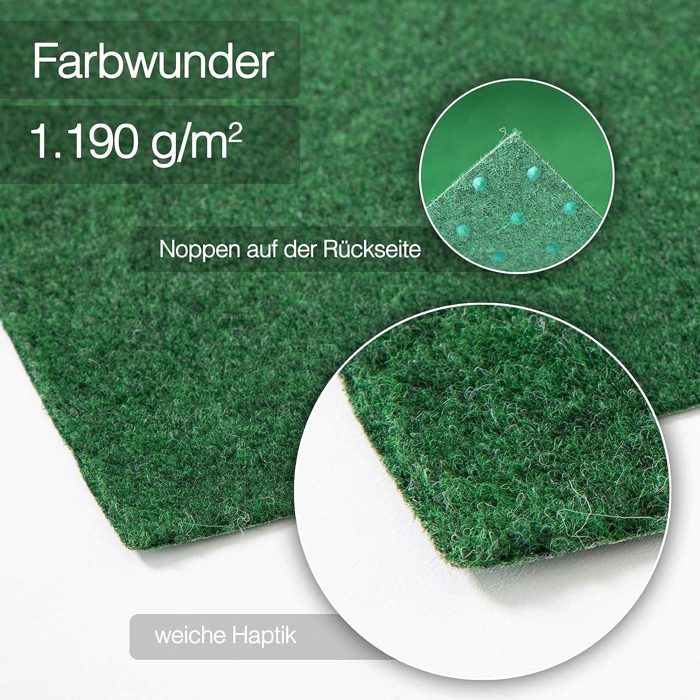 Kunstrasenteppich f/ür Terrasse Rasenteppich Farbwunder Pro Balkonteppich Erh/ältlich in 7 Farben 100 x 100 cm, Grau Balkon und Freizeit
