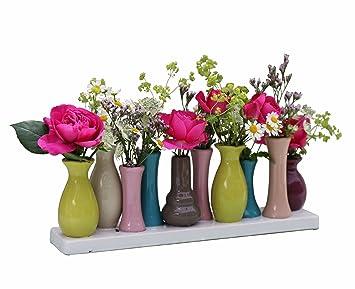 Vase Mit Blumen keramikvasenset blumenvase keramikvasen bunt vase blumen pflanzen