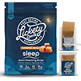 Lickety Qwik Melatonin 5mg Sleep Aid Quick Dissolve Strips - 60 Servings - Made with Natural Elderberry, Valerian Root & Cham