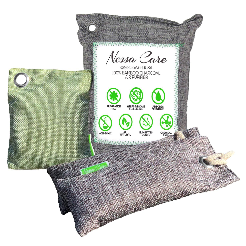 Nessa Care Natural Bamboo Charcoal Air Freshener Purifier Odor Eliminator Deodorizer 4 Bags Nessa World