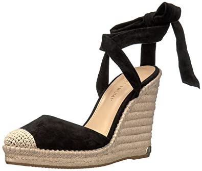 Ivanka Trump Women's Winikka Espadrille Wedge Sandal, Black, 8.5 Medium US