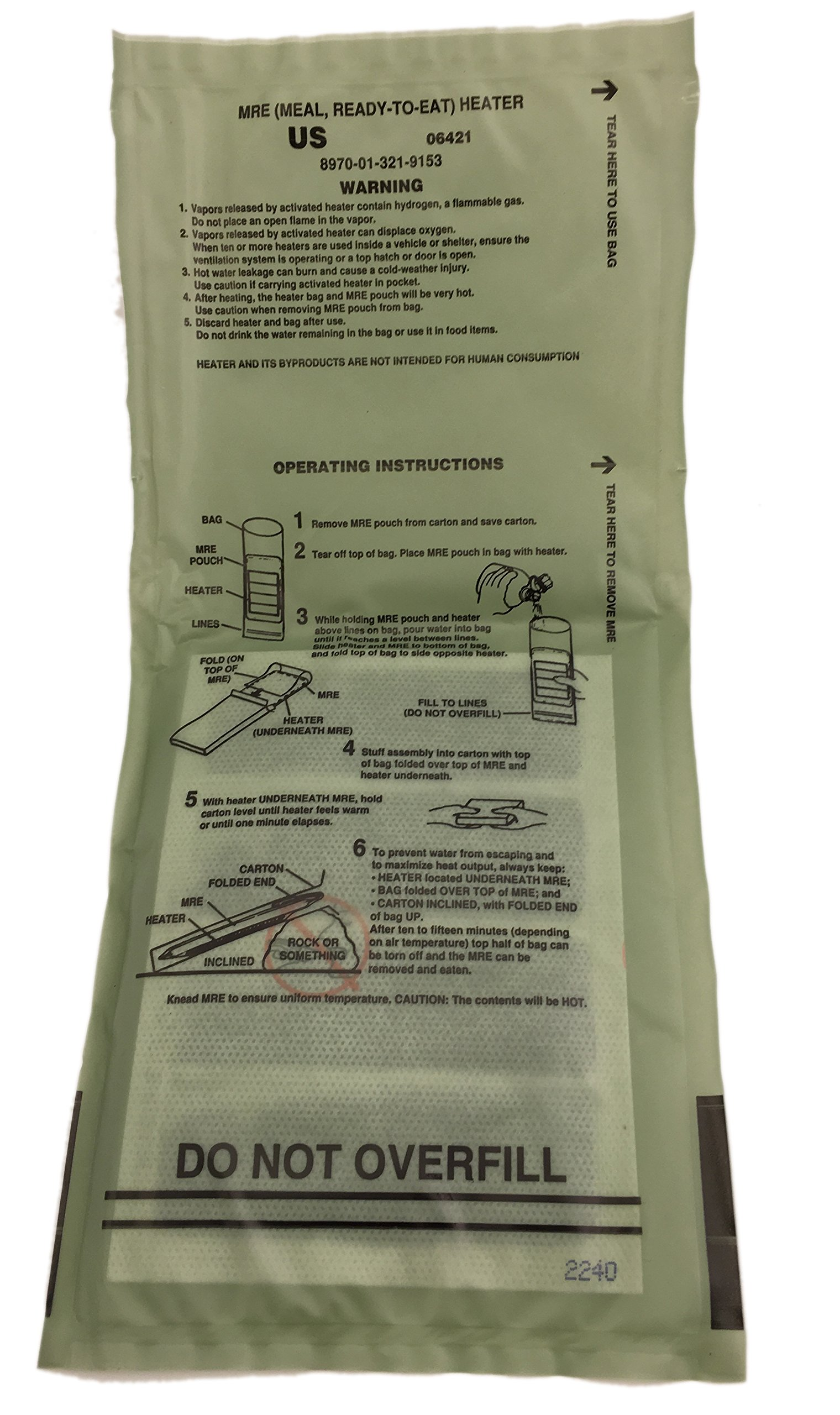 Pack of 10 SOPAKCO Sure-Pak MRE Reduced Sodium Emergency Ration Meals - Ready to Eat Variety Factory Sealed by Sure-Pack (Image #5)