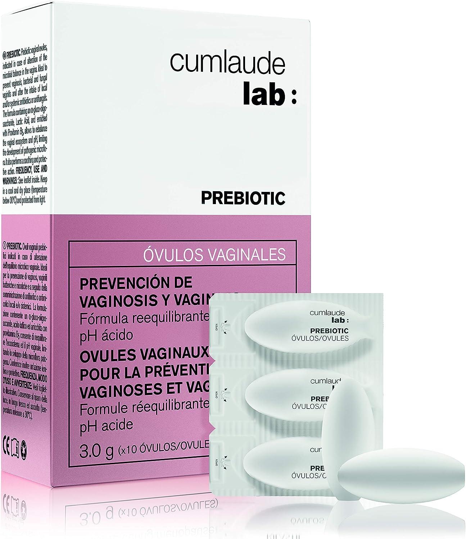 Cumlaude - Prebiotic Óvulos Vaginales - Prevención de la Alteración de la Microbiota Vaginal - 10 Uds