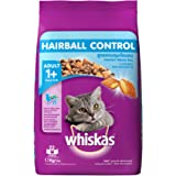 Whiskas Hairball Control Adult - Cat Food Chicken & Tuna, 1.1 kg Pack