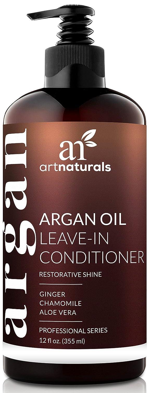Art Naturals Olio di Argan lasciare in condizionatore - (2 Fl Oz/354ml)-capelli crema con Aloe Vera e vitamina E ArtNaturals ANHA-0802-VE