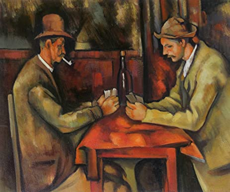 Amazoncom The Card Players Louvre Paul Cezanne High Quality - Who painted the card players