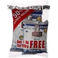 India Gate Basmati Rice Super, 1kg (with Free 500g)