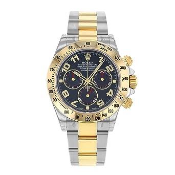 sale retailer dc4ed fd46b Amazon | Rolexデイトナ116523 BLA 18 Kイエローゴールド ...