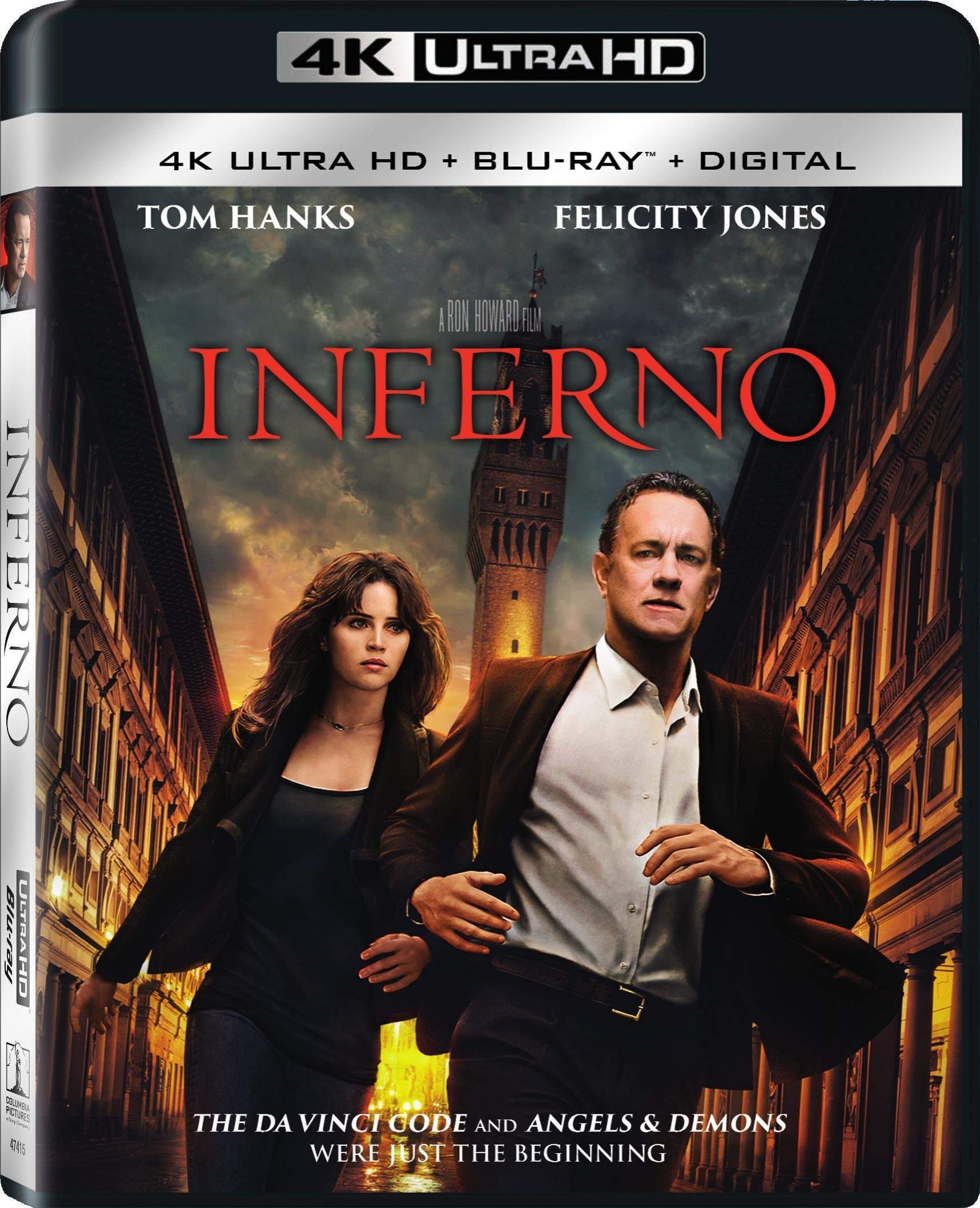 4K Blu-ray : Inferno (With Blu-Ray, Ultraviolet Digital Copy, 4K Mastering, , 2 Disc)