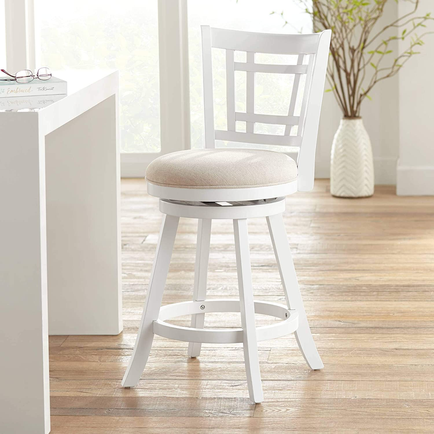 Awesome Hillsdale Furniture Fairfox Stool White Alphanode Cool Chair Designs And Ideas Alphanodeonline